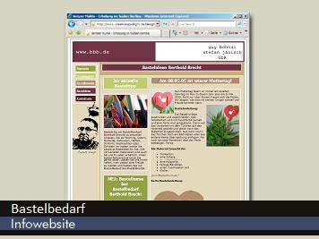 Bastelbedarf Website