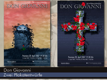 Don Giovanni -Theaterplakate
