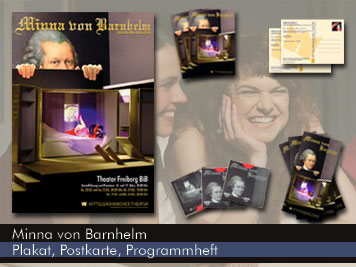 Minna von Barnhelm - Theaterplakat & Flyer